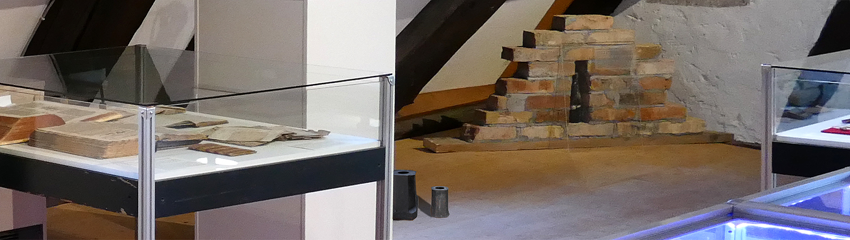 Steinhauerstube Maulbronn Schmie zentraler Ausstellungsraum 2 Unwetterkanonen und Bauopfer