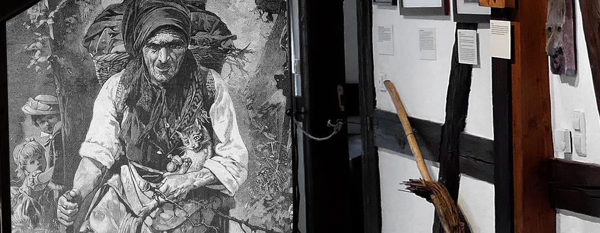 Steinhauerstube Maulbronn Schmie zentraler Ausstellungsraum 3 Hexen