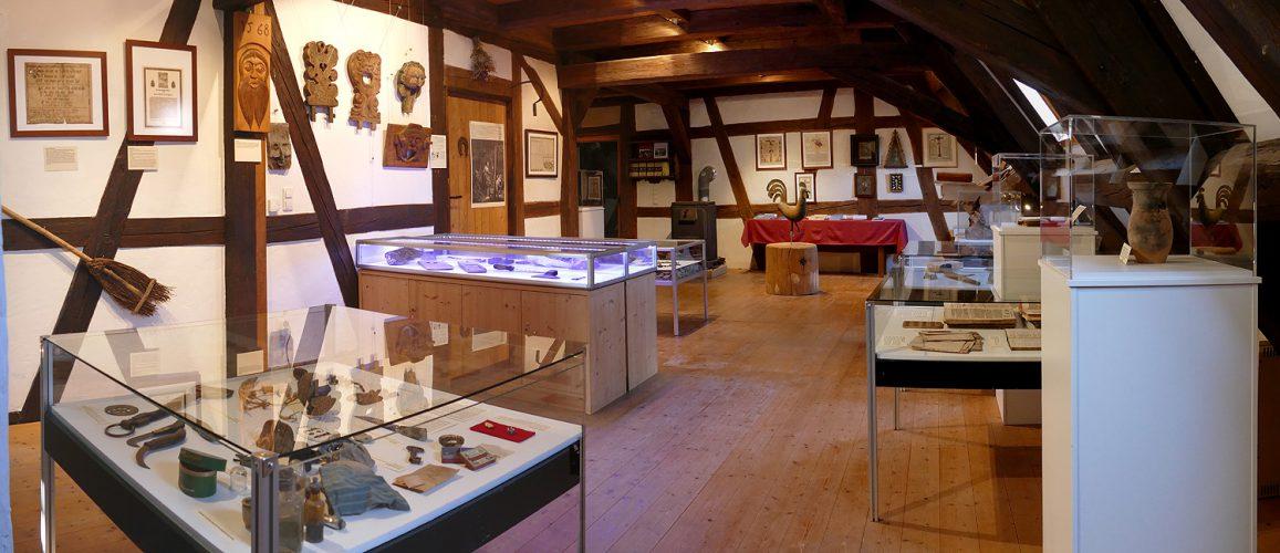 Steinhauerstube Maulbronn Schmie zentraler Ausstellungsraum